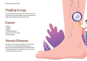 Graphic showing causes of tingling in legs