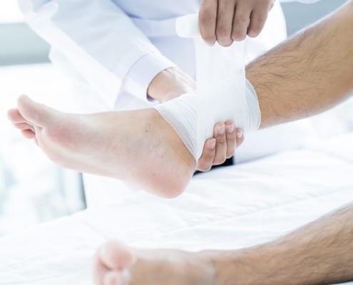 What causes leg sores?