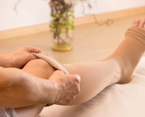 Compression socks to improve circulation in legs